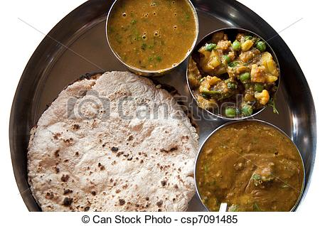 Gujarati thali clipart.