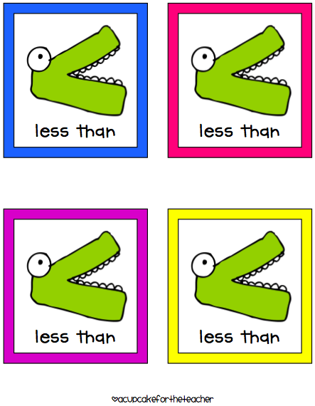 Greater Than Less Than Alligator.