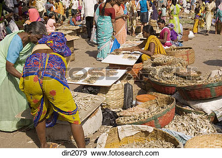 Stock Photograph of Weekly rural fish market for daily.