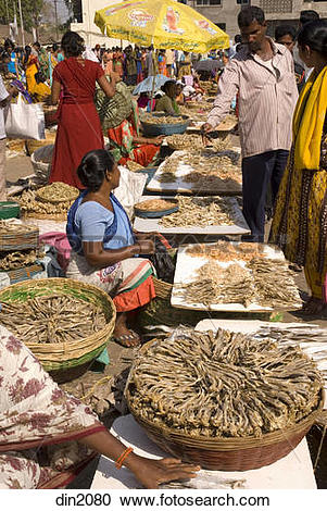 Stock Photography of Weekly rural fish market for daily.