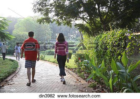 Stock Photo of Jogging ; people taking morning walk ; walking.