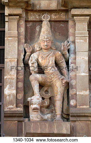 Stock Photo of Sculpture on the wall of a temple, Brihadishwara.