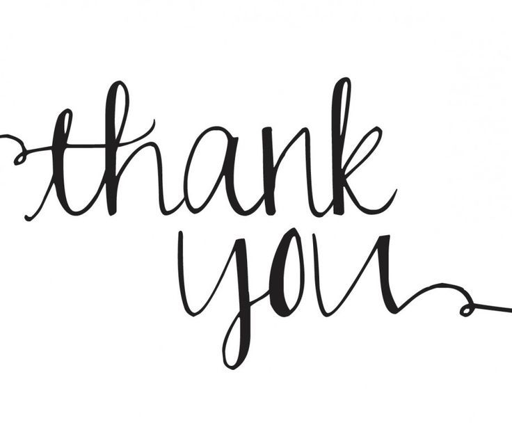 Image result for thank you clipart black and white.