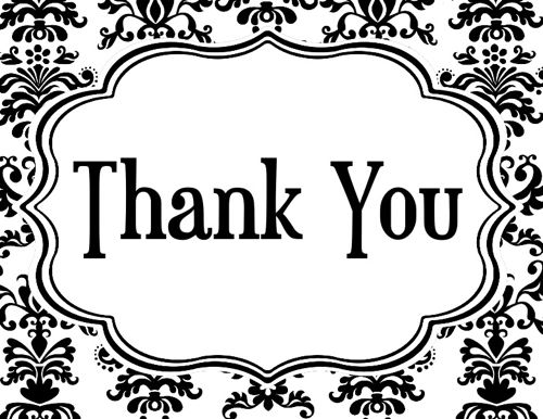 Thank you black and white black clipart.