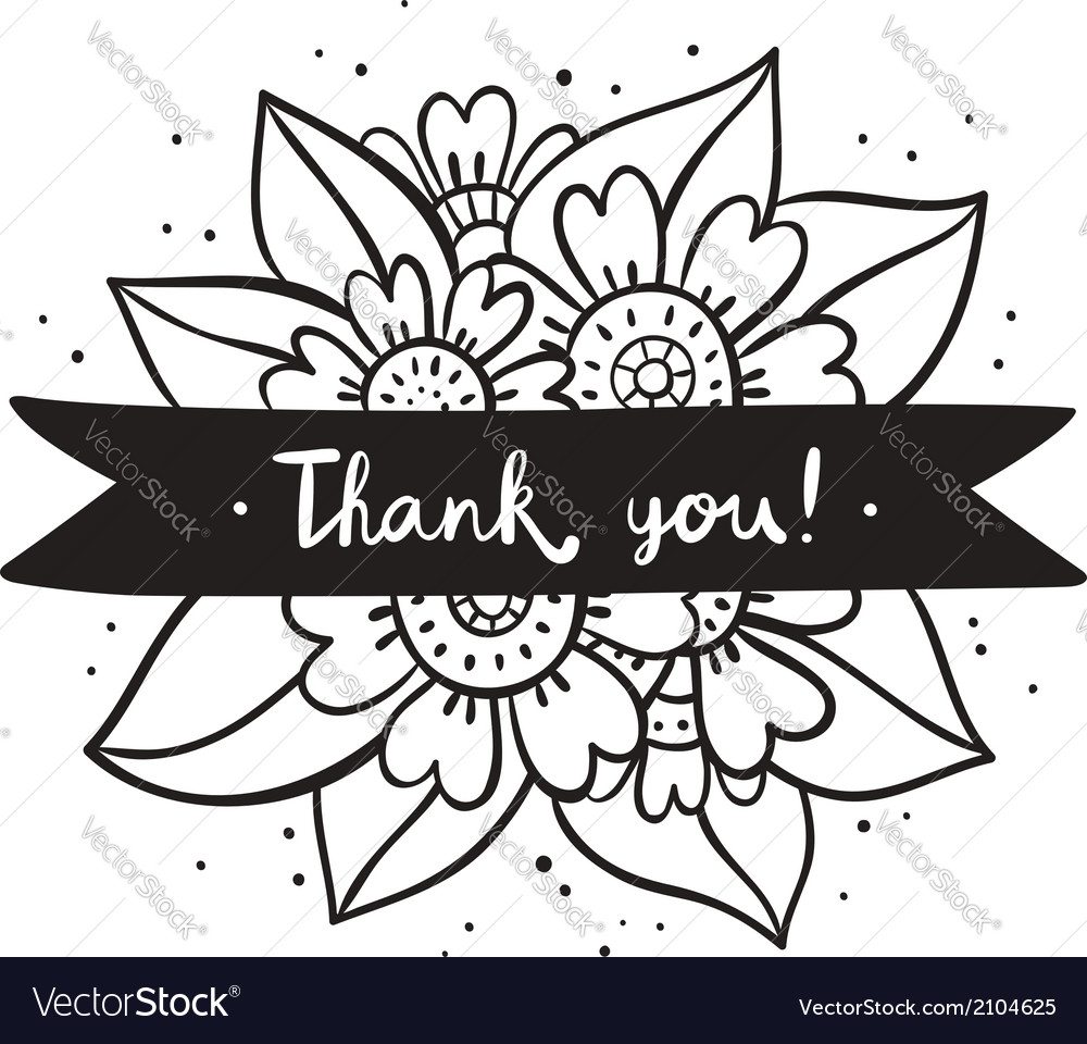 Thank you black flowers.