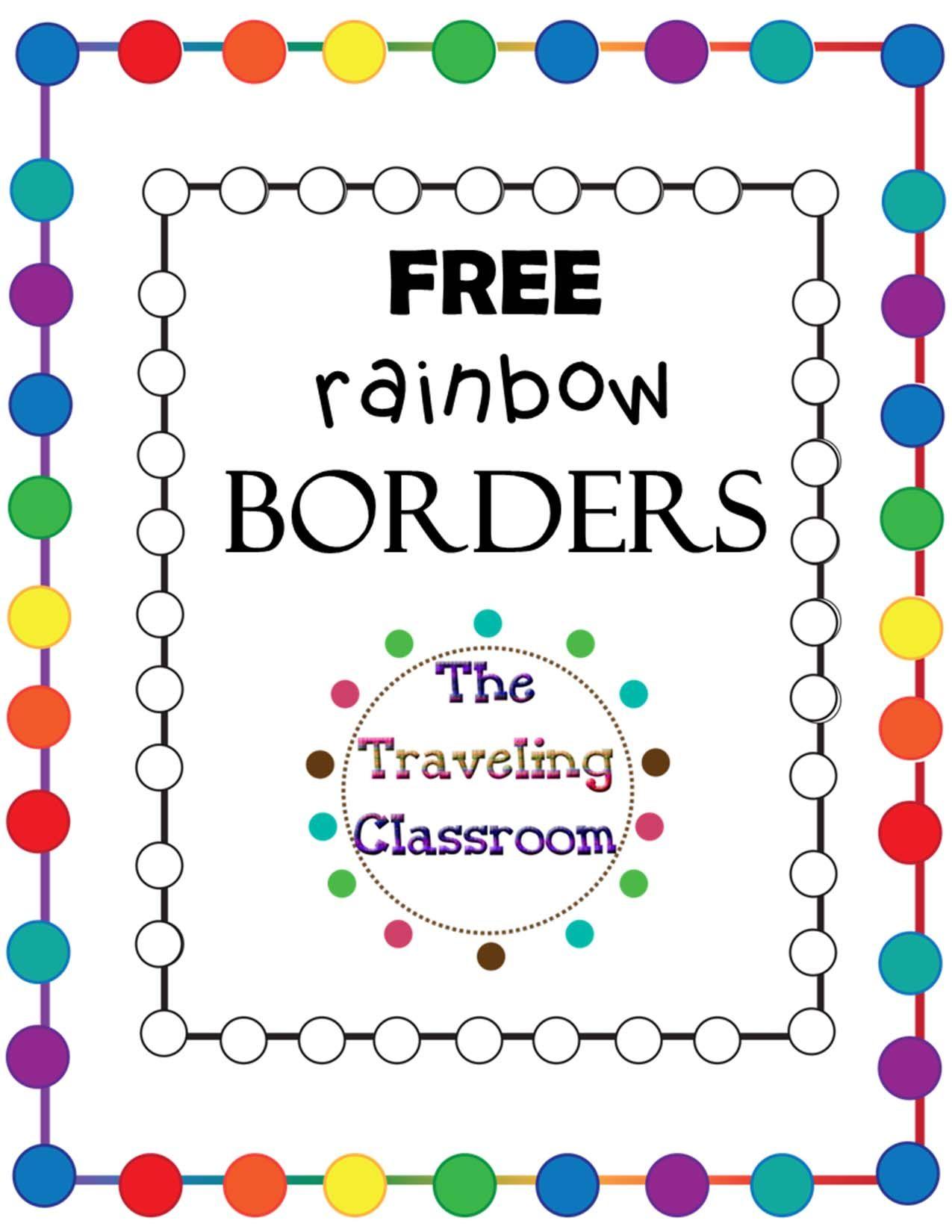 FREE Rainbow Borders.