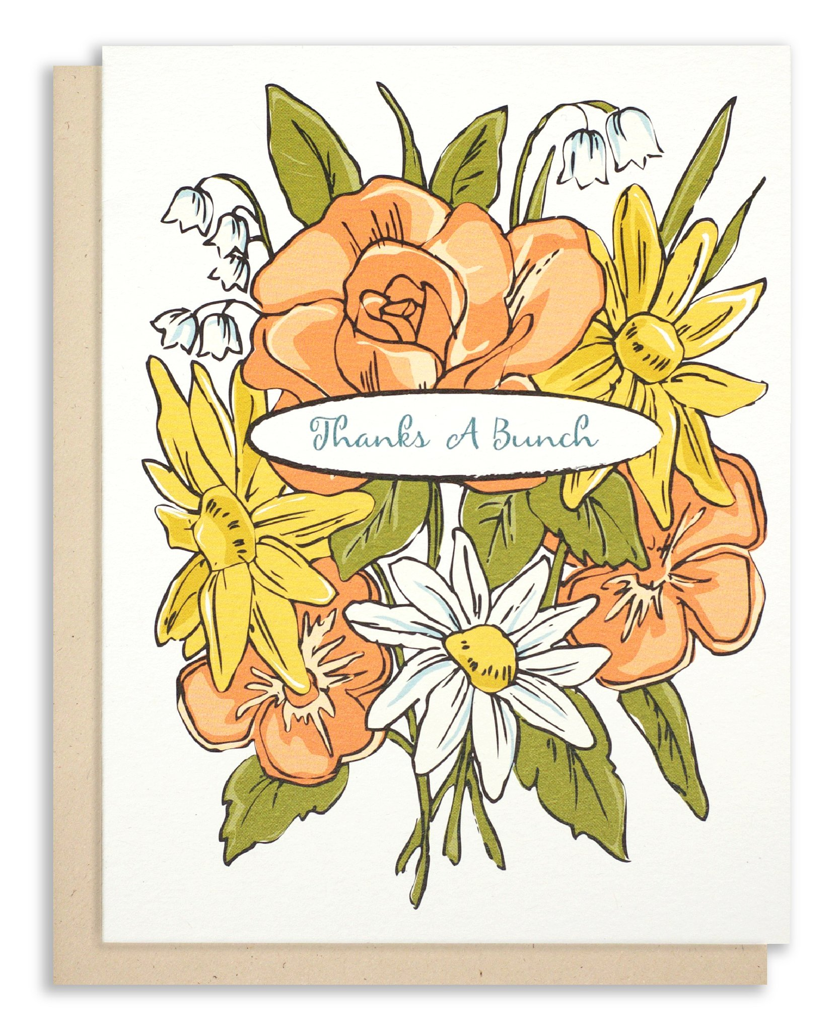 Floral Bouquet Thank You Card.