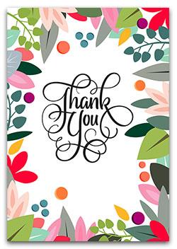 Thank You / Appreciation Cards.