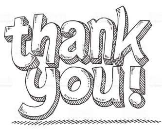 Thank you black and white thank you clipart biezumd.
