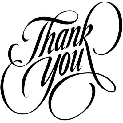 72+ Thank You Clipart Black And White.