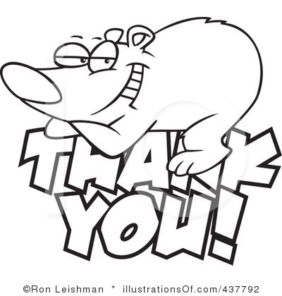 Thank You Clip Art Black And White.