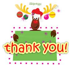 Image result for free clipart Christmas thank you.