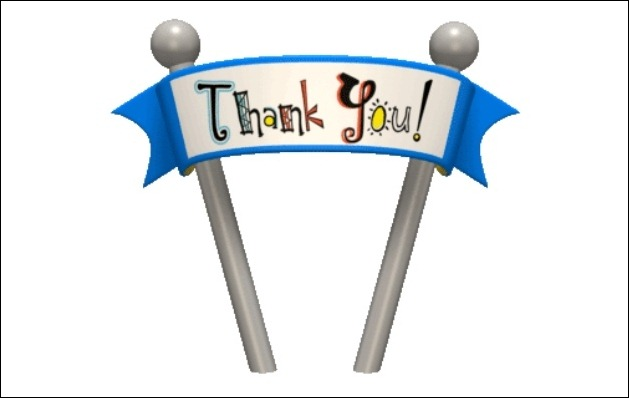 Animated PowerPoint Thank You Clip Art.