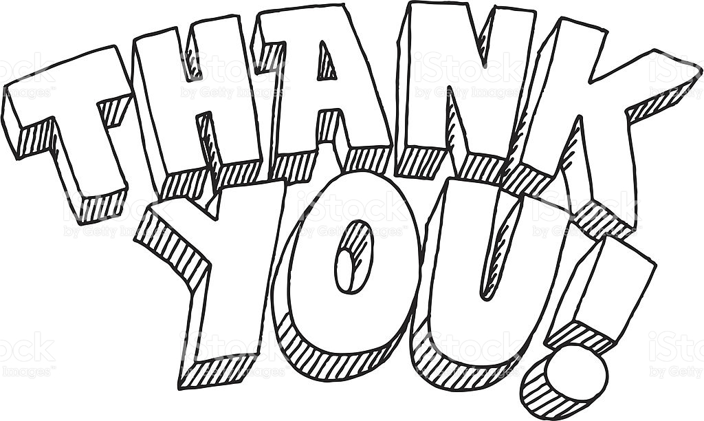 Thank You Clipart Free Black And White.