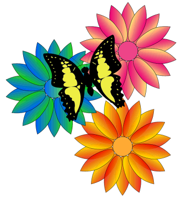 Thank You Clipart Sunflower Butterfly.