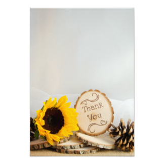 Yellow Sunflower Thank You Notes Gifts on Zazzle.