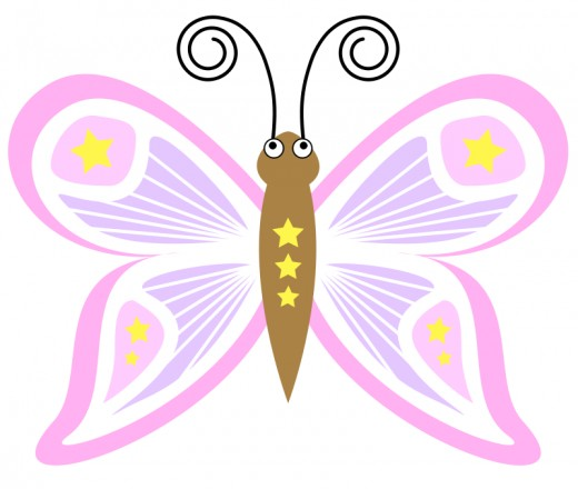 Smiling Thank You Butterfly Clipart.