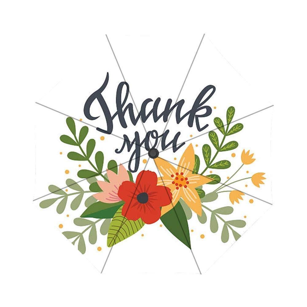 Amazon.com: Thank You Flowers Clip Art Umbrella Custom.