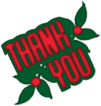 Holiday thank you clip art free clipart images.
