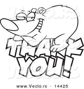 Royalty Free Stock Designs of Thanks.