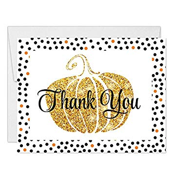 Amazon.com: Thanksgiving Meal Thank You Notes with Envelopes.