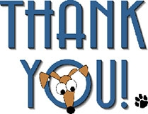 Thank You Dog Clipart.