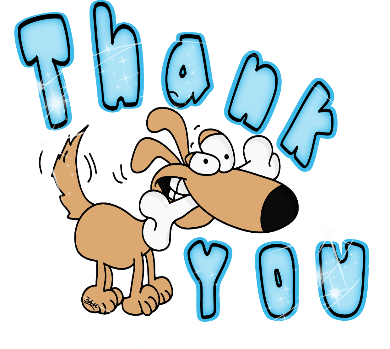 Dog Thank You Clipart.