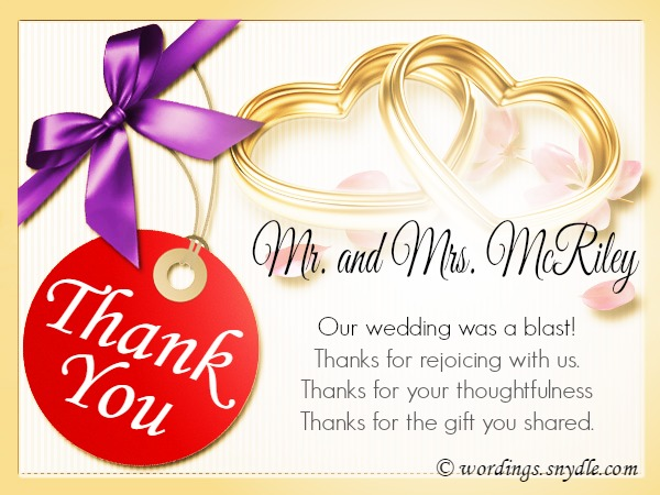 Wedding Thank You Notes.
