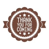 Thank you for coming label Vector Image.