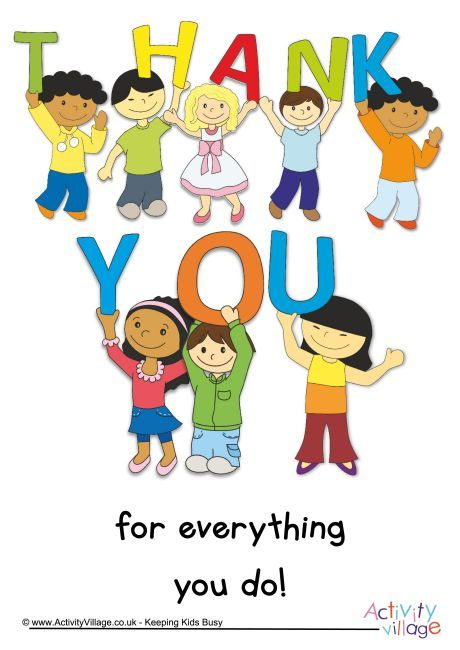 Thank you for everything you do poster for Teacher.