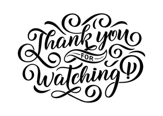 Thank you for watching cover, banner template for your Video.