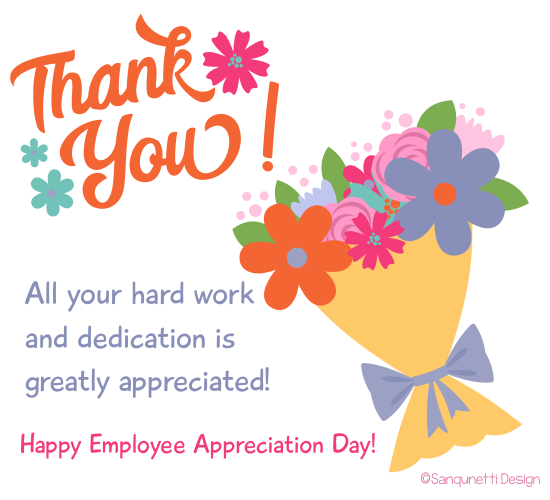 Thank You For All You Do! Free Employee Appreciation Day eCards.