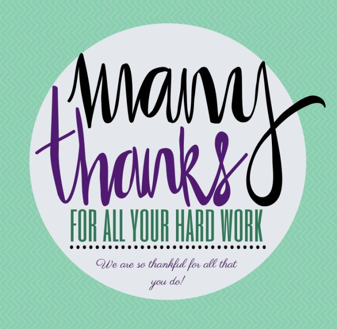 Thank You Quotes For Hard Work And Dedication: Thank You For Your Hard Work Clipart