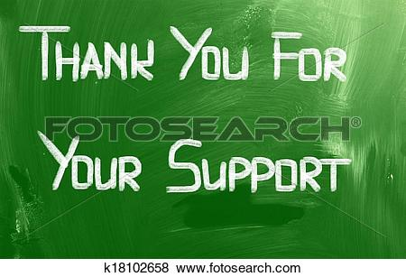 Pictures of Thank You For Your Support Concept k18102658.
