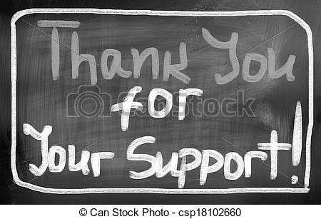 Stock Photos of thank you for your support ! csp17398737.