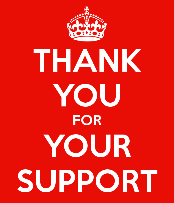 Thank You For Your Support Clipart.