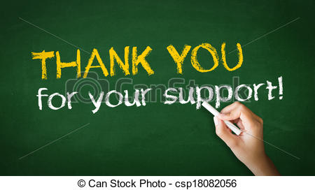 Stock Illustrations of Thank you for your support Chalk.