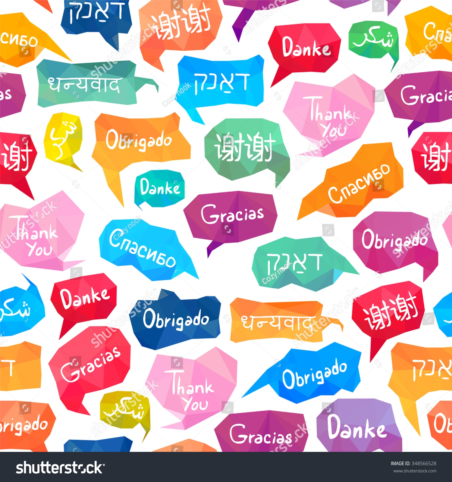 Thank You In Many Languages Clipart.