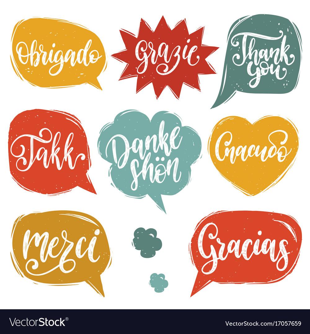 Calligraphic set of different languages.