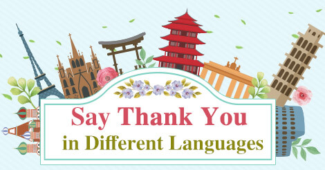 How to Say Thank You in Different Languages.