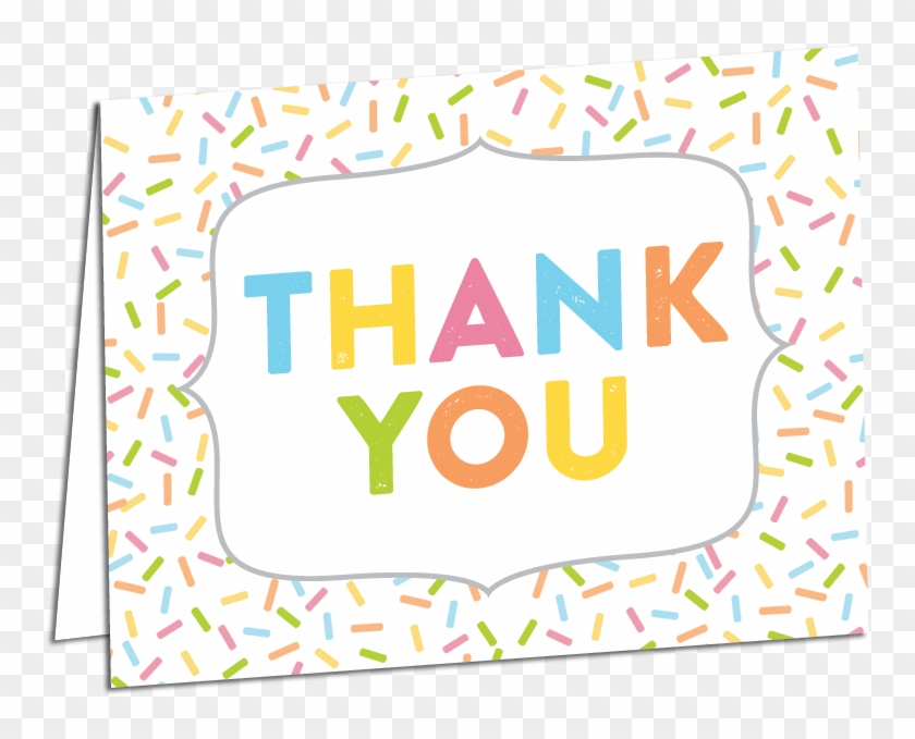Sprinkle Thank You Card Printed Envelope Png You Sprinkle.