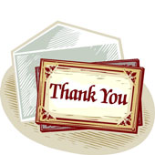 Clipart thank you note.