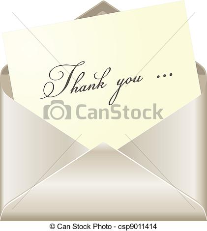 EPS Vector of Thank you card csp9011414.
