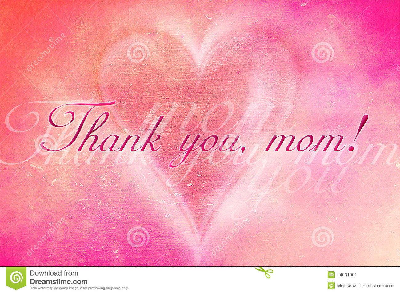 Thank You, Mom Stock Image.
