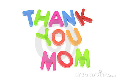 Thank You Mom Stock Image.