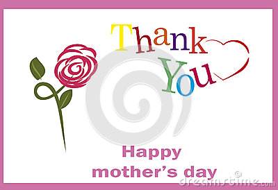 Thank You Mom, Happy Mothers Day Stock Photo.