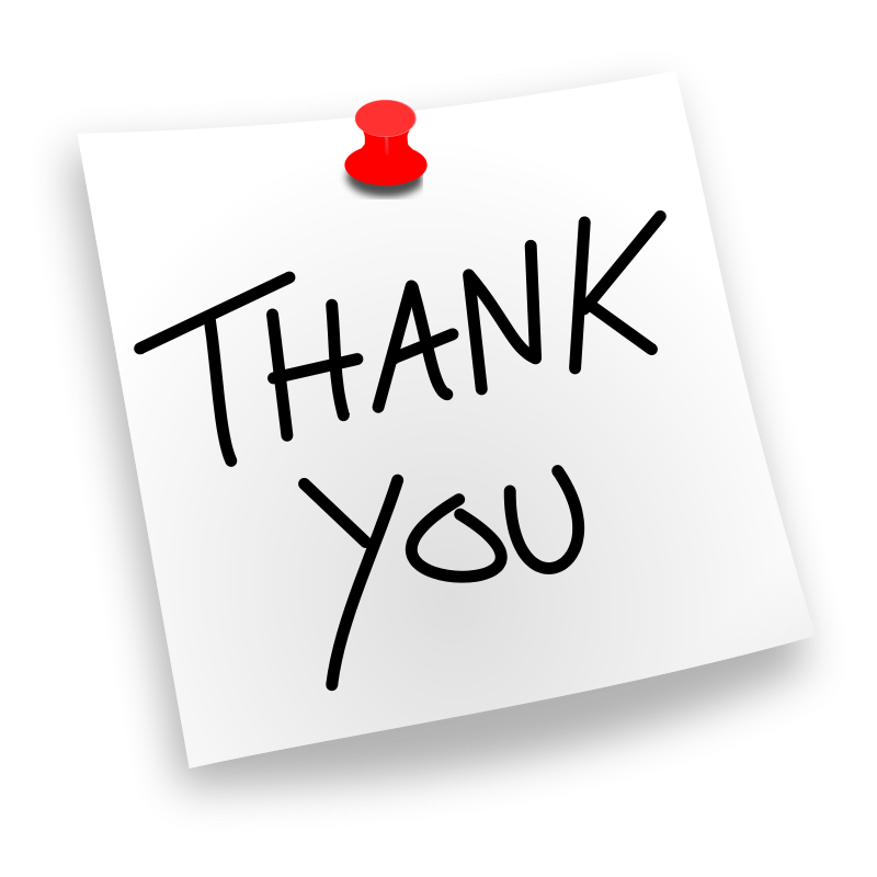 Free Clipart: Thank You Pinned.