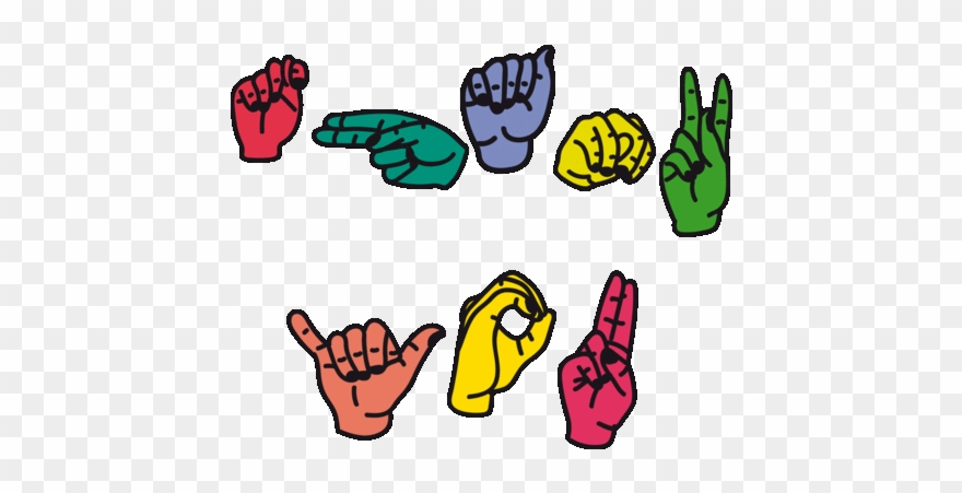 American Sign Language Thank You Sticker By Tim Colmant.