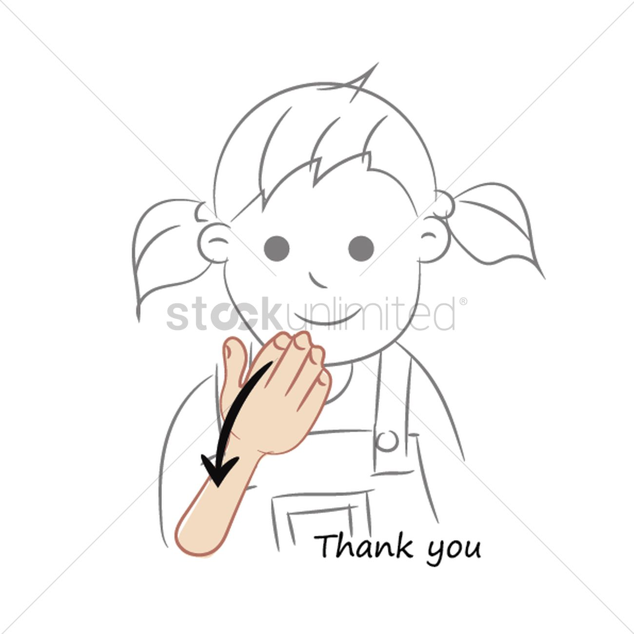 Thank you in sign language Vector Image.