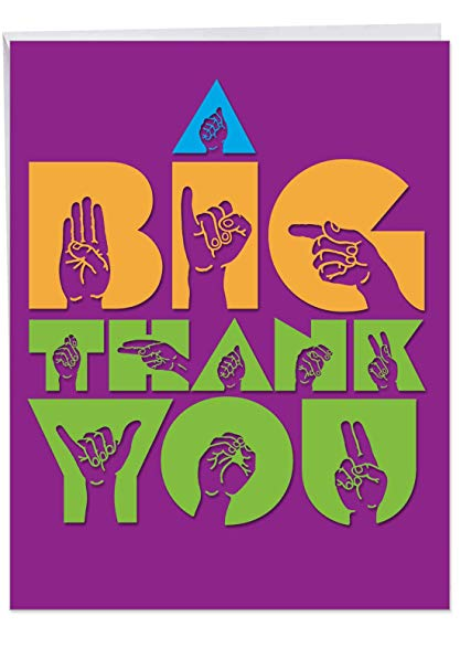 Jumbo Thank You Card with Envelope (8.5\